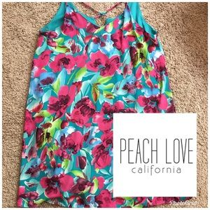 Peach Love California Boutique Floral Dress